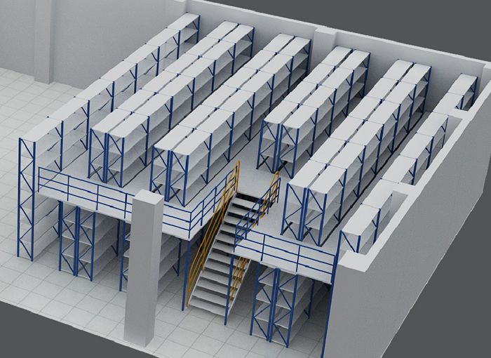 mezzanine floor pallet rack