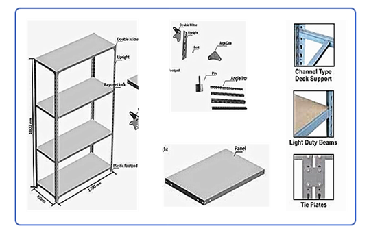 slotted angle steel shelving