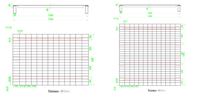 CAD of wire mesh decking