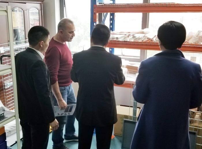 Australian clients visit Spieth for cantilever racks project
