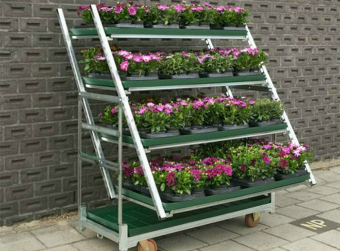 High Quality Outdoor Transport Flower Trolley