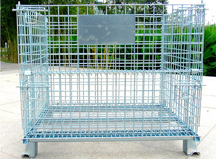 Industrial Stackable Storage Wire Mesh Container