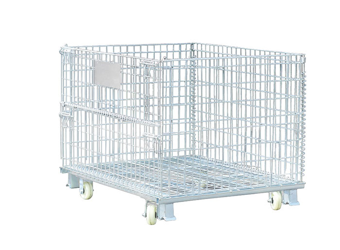 Heavy Duty Wire Mesh Container With Wheels
