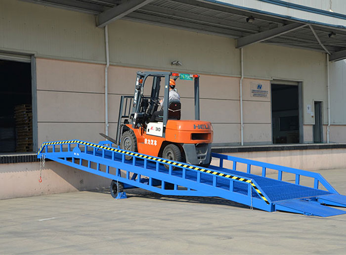 Portable Loading Dock Ramp for Forklift