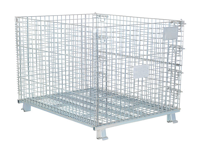 Foldable Storage Wire Mesh Container Cage