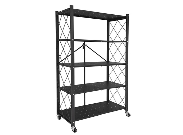 Bathroom Storage Rack Foldable Store Wire Shelving