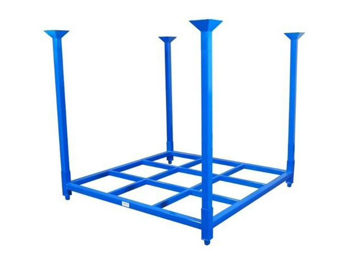 Metal Stacking Foldable Pallet Tire Rack Storage System