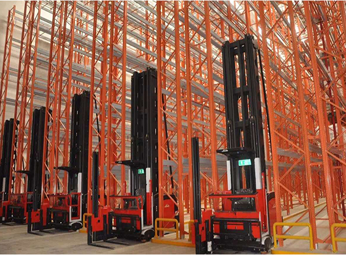 Very Narrow Aisle Warehouse Heavy Duty Pallet Racking System