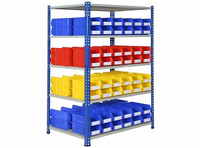 Boltless Shelving Plastic Storage Bin Rack For Sale