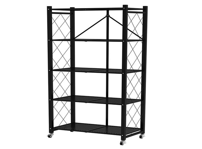 Folding Rack Kitchen Storage Shelf with Wheels