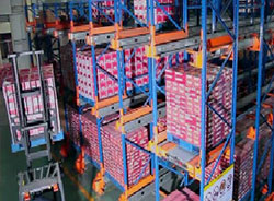Radio Shuttle Pallet Racking Systems with Pallet Runner