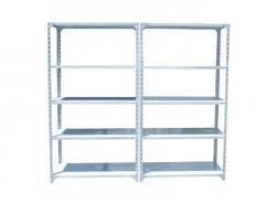 Light Duty Warehouse Storage Slotted Steel Angle Shelving