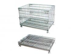 Warehouse Industrial Wire Mesh Storage Cage with Wheels