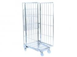 3-Sided Foldbable Roll Container Trolley