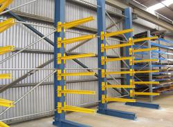 Cantilever Racks Steel Pipe Warehouse Storage Shelving System