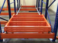 Heavy Duty Warehouse Push Back Steel Pallet Racking System