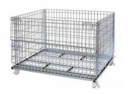 Metal Wire Mesh Cages Foldable Pallet Container